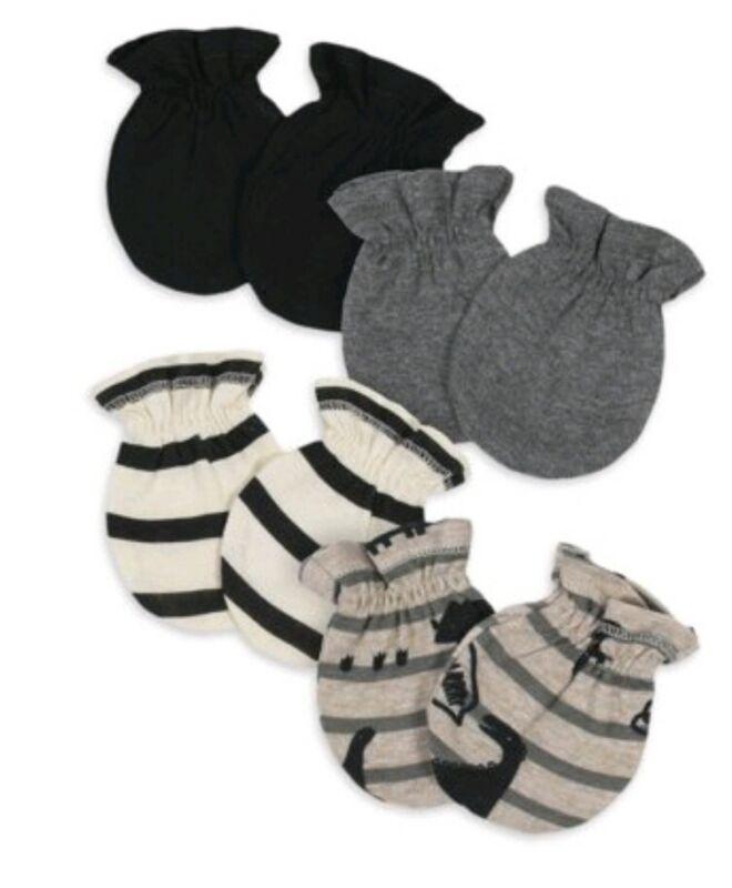 Gerber Infant Mittens 4 Pack Dinosaurs Organic Cotton (Size 0-3 M) BNWT