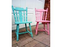 Kitchen chairs fiddle back shabby chic