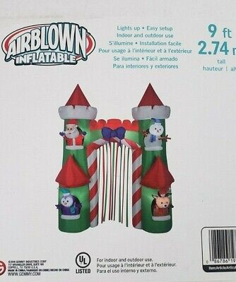 Gemmy 9ft Santa's Castle Archway Inflatable