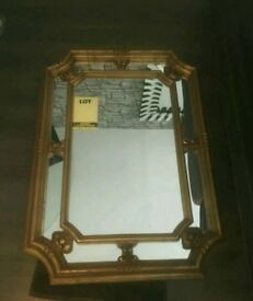 Reduced Large Mirror***Pic does no justice.. Frame can be altered painted/Sprayed,Stunning mirror!