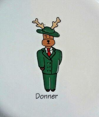 Ltd Commodities Donner Reindeer Salad Dessert Xmas Holiday Plate