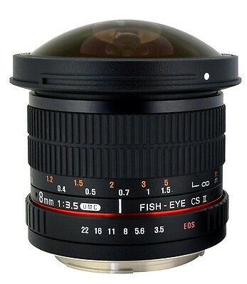 Rokinon HD 8mm F3.5 Ultra Wide Fisheye Lens for Canon, Nikon, Sony, Pentax +