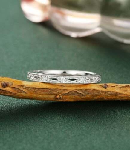 14k White Gold Gorgeous Eternity Engagement & Wedding Ring 1.1 Ct Round Diamond