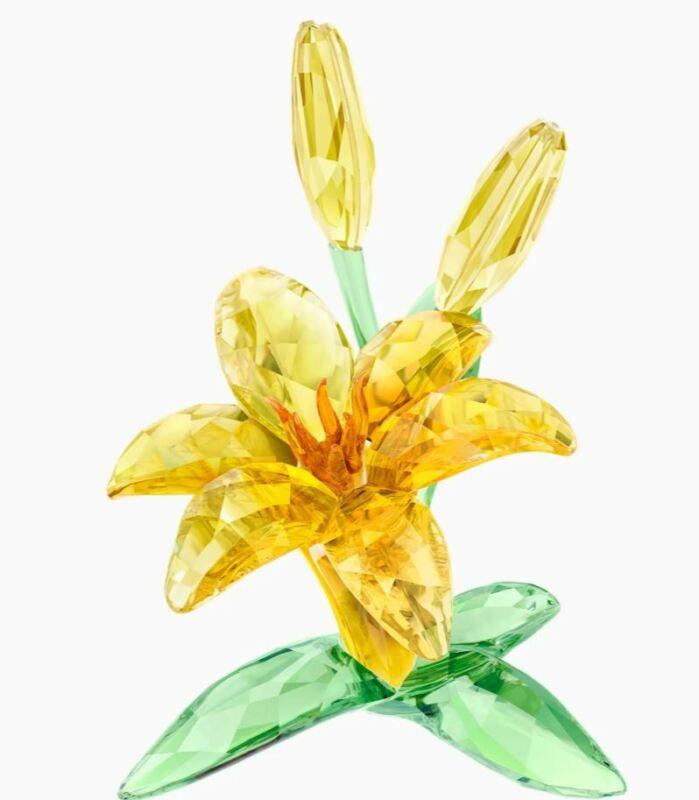 Authentic New in Box $399 Swarovski Flower Lily Yellow #5371641