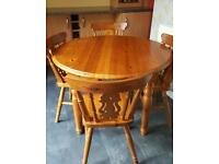 Farmhouse pine table and chairs