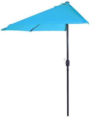 9 ft half round patio umbrella steel