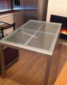 Frozen glass table