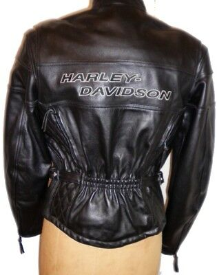 Harley Davidson Leather Jacket COMPETITION II w LINER & NECK GAITOR 98110-97VW M