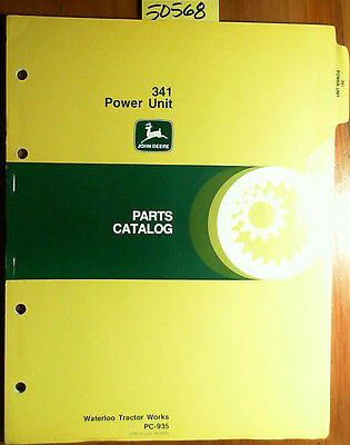 John Deere 341 Power Unit Parts Catalog Manual Pc-935 478