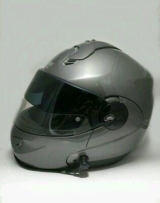NOLAN N102 Helmet N-COM Bluetooth- Medium - Gun Metal Gray - VPS Visor - Italy (Gray N-com Helmet)