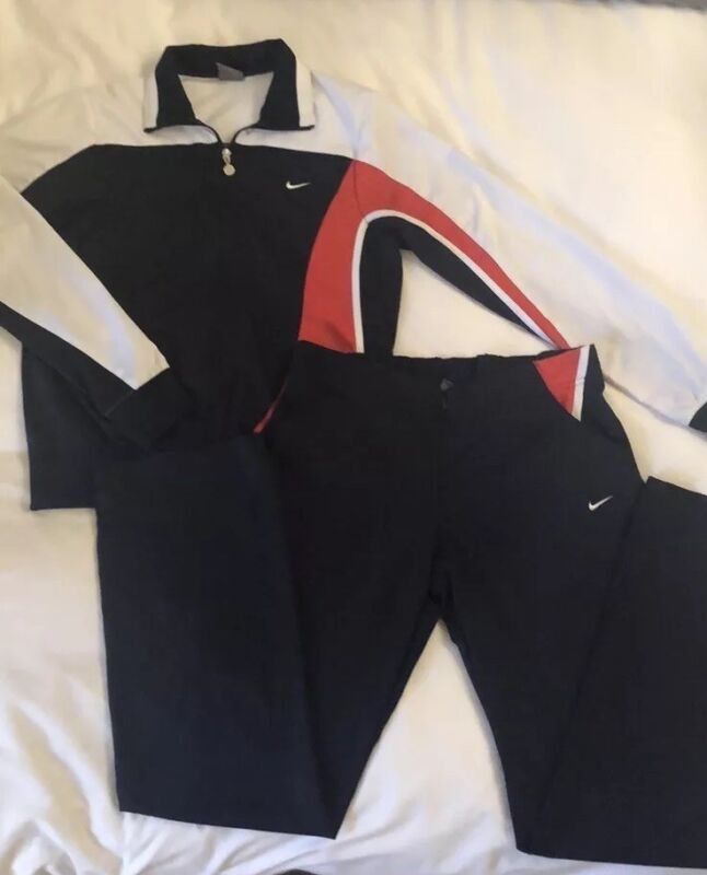 Womens Vintage Nike Track-suit In Red White And Blue. Mint.