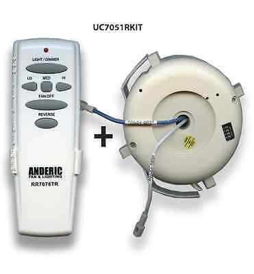 Hampton Bay Remote control Ceiling Fan Kit for UC7078T & UC7051R w/ Reverse