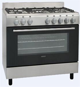 Cuisiniere Mixte GAZ Électrique Piano DE Cuisson Sogelux CM9161X Inox