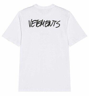 VETEMENTS Written Logo T-Shirt. White. Size L