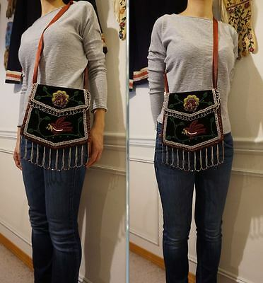 Very Fine Early 1920s Native American Iroquois Wabanaki Mohawk Beaded Bag