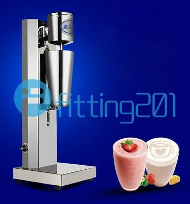 220v Stainless Steel Single Head Milk Shake Machine Electric Bubble Tea Mixer