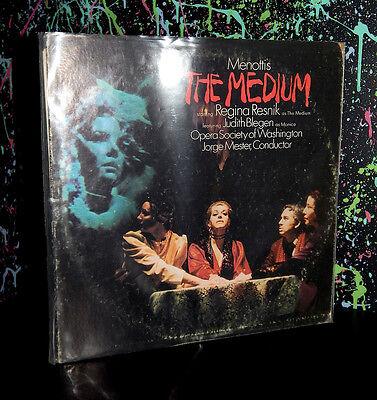 1970 MENOTTI'S THE MEDIUM LP RECORD dark opera spooky halloween music haunted - Halloween Opera Music