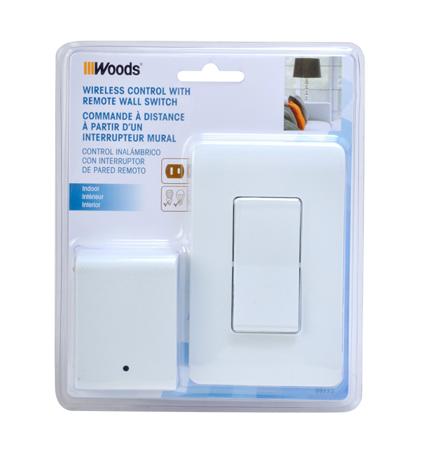 The Best Woods 59773 Wireless Wall Switch Remote For Indoor