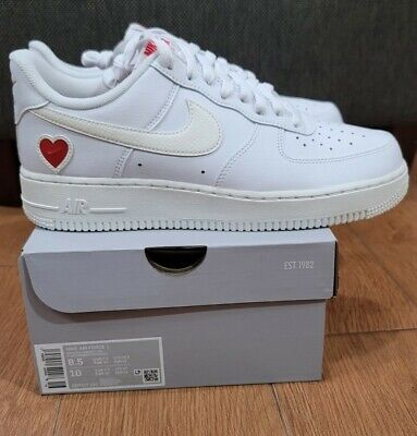 NIKE AIR FORCE 1 '07 Low QS Valentines Day White Sail Red...