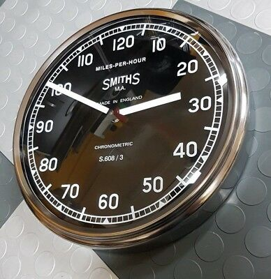Custom Smiths British Motorcycle Speedometer Shop Clock S.608/3