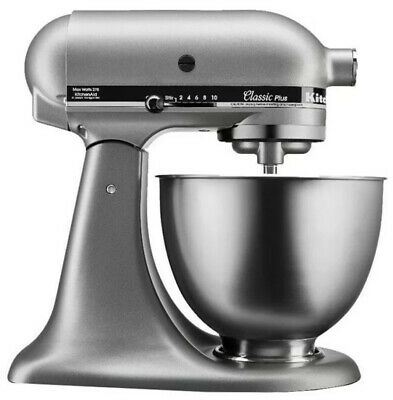 KitchenAid Classic Stand Mixer 4.5 Quarts Silver Tilt-Head Stainless Steel Bowl