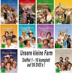 58 DVDs * UNSERE KLEINE FARM ~ STAFFEL 1 - 10  DIE KOMPLETTE SERIE # NEU OVP +