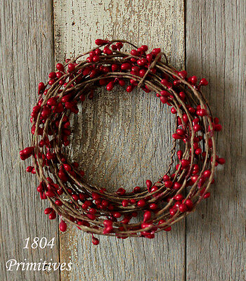 Primitive Pip Berry Garland ~ 18ft single ply roping ~ RED