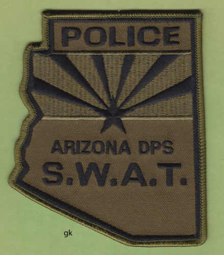 ARIZONA POLICE SWAT DPS STATE SHAPE SHOULDER PATCH  (Subdued)