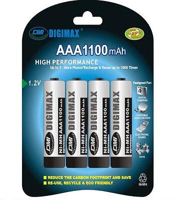 4 x Digimax AAA Rechargeable Batteries 1100 mAh phone 1100mAh NiMh
