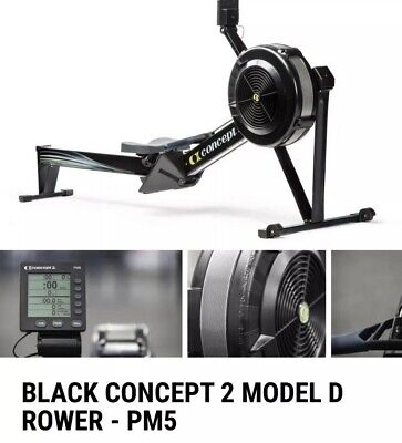 Concept 2 Model D Indoor Rowing Machine Black - w/ PM5 Monitor - BRAND NEW Rower