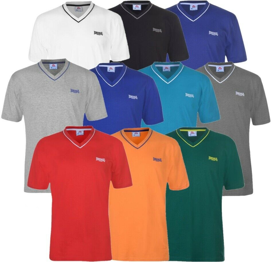 ✅ LONSDALE Herren T-Shirt V Ausschnitt Neck Freizeit Fitness Sport Sommer Hemd