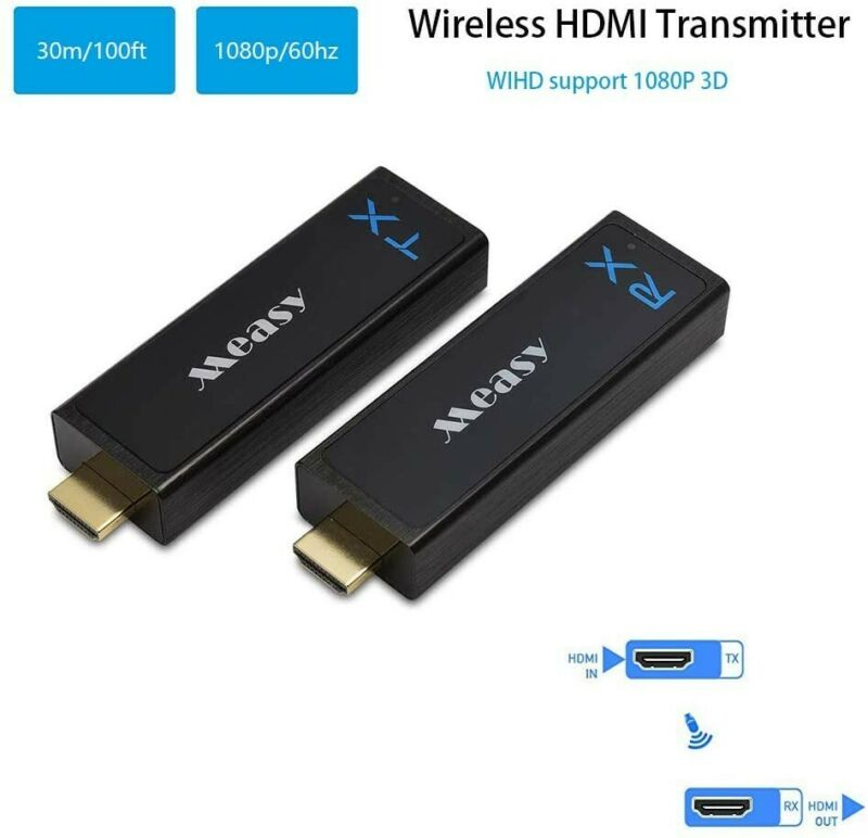 Measy Wireless HDMI Transmitter and Receiver Extender up to 100 Ft