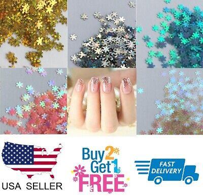 SNOWFLAKE ❄️ Glitter Multi Colors Nail Holographic Glitter Art Acrylic Gel - Acrylic Snowflakes
