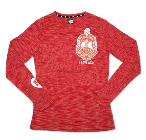Delta Sigma Theta Sorority Long Sleeve T-Shirt- Red- Size 2XL-New!