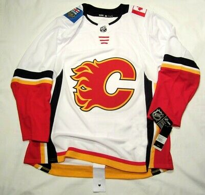 c2e0e3fd2b0 CALGARY FLAMES size 60   3XL ADIDAS NHL HOCKEY JERSEY Climalite Authentic  White