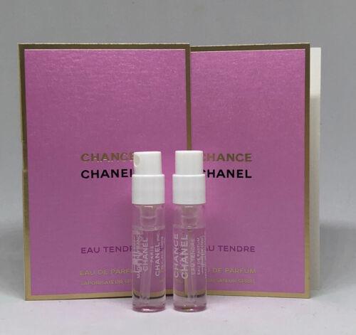 2 X CHANEL CHANCE Eau Tendre Perfume EDP Fragrance Sample 15ml 005 oz Travel