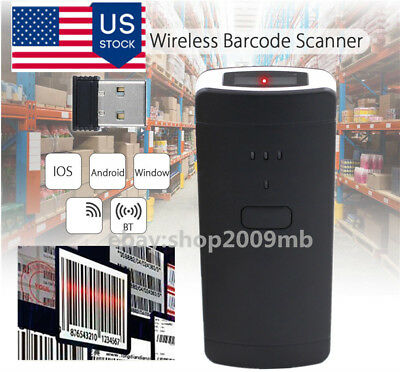 Mini Wireless Bluetooth Barcode Scanner Code Reader Apple Iosandroidwindow