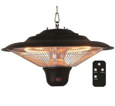 Hanging Patio Heater Indoor Outdoor Electric Remote Infrared Heat Back Yard Deck ()