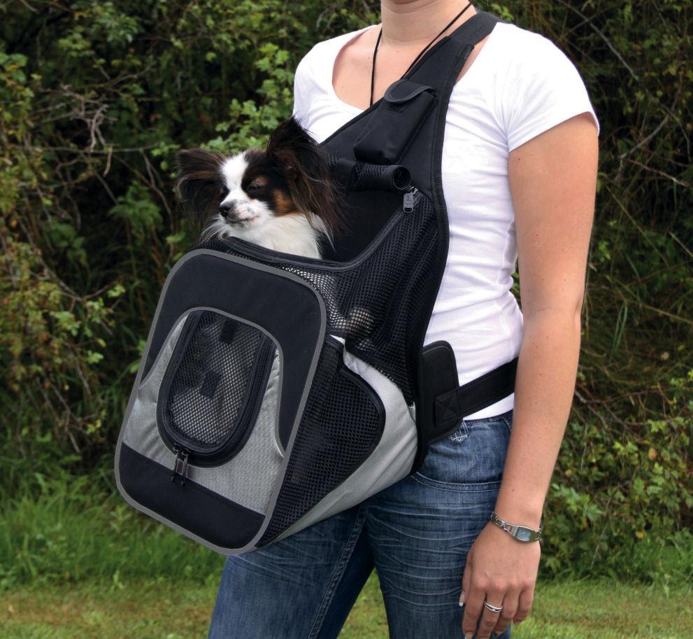TRIXIE Fronttasche Savina 30 x 33 x 26 cm Rucksack für Hunde Katzen bis 10  kg