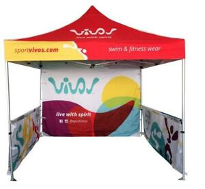Heavy Duty Custom Printed Pop Up Canopy Tents, Feather Flags, Table Covers for Trade Show Events - Deluxe Canopy