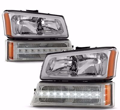TIFFIN ALLEGRO 2007-2008 CHROME HEADLIGHTS LED SIGNAL LIGHTS 4PC SET