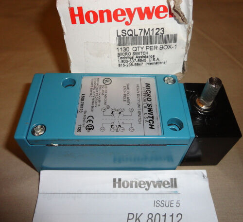 HONEYWELL LSQL7M123 LIMIT SWITCH MICROSWITCH NEW