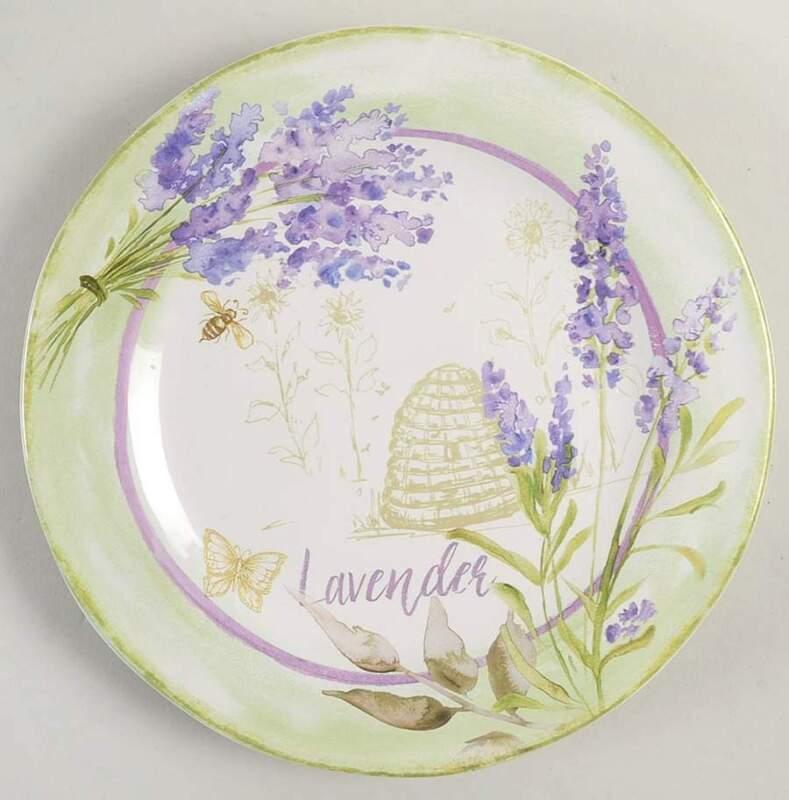 Certified International Herbes de Provence Salad Dessert Plate 11203076