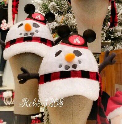 Disney Christmas Disneyland Snowman Mickey Mouse Club Hat Light Up Baseball Cap
