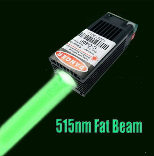 515nm 80mW Thick Beam Bright-Green Laser Module w/ 12V for Laser show/Stage