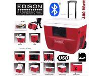 Edison Professional Ice Blast Deluxe Bluetooth USB Ice Chest Cooler Aux 400 Watt