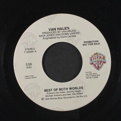 VAN HALEN: Best Of Both Worlds / Live 45 (dj) Rock &
