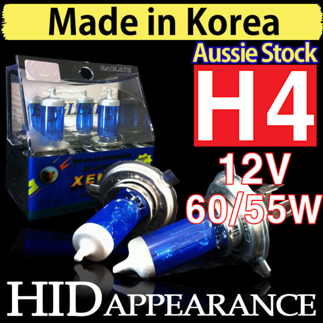 H4 Globes Bulb Headlights Xenon HID 12V 60 55 W Car Driving Crystal Vision White