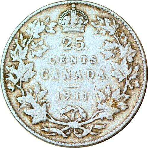 1911 25C Canada Twenty-Five Cents Fine  K10051