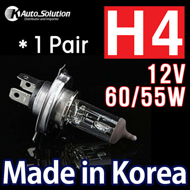 H4 60/55W Halogen Headlight Bulbs Globes Toyota Camry Hilux Landcruiser Prado